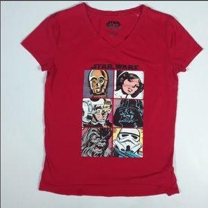 🌟2/$20 Star Wars Red V-Neck T-Shirt